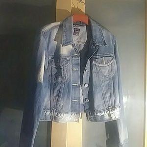 Vintage Levi's cropped jean jacket.